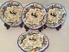Fitz And Floyd 'Ricamo' Dinnerware Salad Dessert Plate Handpainted Rooster