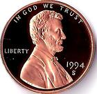 1994 S Lincoln Memorial Cent, Nice & Shiny Proof Coin, Finish Your Book, #7209