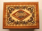 Vintage Reuge Swiss Musical Movement Wood Jewelry Trinket Music Box Fascination