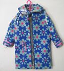 VINTAGE SKIPPER DOLL #1939 FLOWER SHOWERS BLUE FLORAL PLASTIC RAIN COAT JACKET