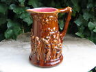 HUGE ANTIQUE FRENCH MAJOLICA BEER PITCHER  SARREGUEMINES 1905
