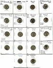 Lot of 18 Denmark 10 Ore: 1947-1967 #24558