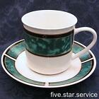 LOT of 4 ROYAL DUCHESS Gibson Design CUP and SAUCER SET/S green malachite marble