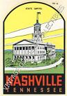 VINTAGE NASHVILLE TENNESSEE STATE CAPITOL SOUVENIR TRAVEL WATER WINDSHIELD DECAL
