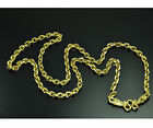 Thick Strong Men round chain 22K 24K Thai baht GOLD GP necklace 24