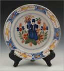 Wonderful Signed 19th C Delft / Faience Plate w/ Character Scene