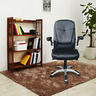 PU Leather Computer Desk Office High Back Task Executive Ergonomic Chair Black
