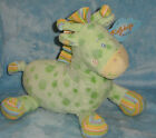Kellytoy KellyBaby Plush Green Giraffe Spot Stripe Mane Feet Stuffed Animal NWT