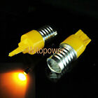 10x T20 3W 7440 Amber High Power LED Magnifier Lens Turn Signal Tail Side Light