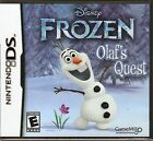 FROZEN Olaf's Quest Nintendo DS Brand New Game In Factory Sealed Case
