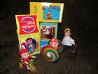 New QTY 3 tin toy Bear Wheel MS207 Ringing Tricycle PS013 Traveller Suitcase Boy