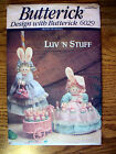 VIN 90's BUTTERICK CRAFT PATTERN - EASTER - BUNNY BROOM & BASKET COVER - UNCUT