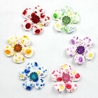 Lots 12pcs Padded Felt Flower Rhinestone Appliques Cloth Applique For Bows 135