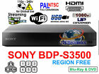 Region Free Blu-Ray Player SONY BDP-S3200 Wifi Netflix Smart Multi region