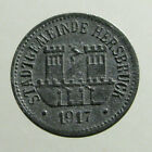 WWI EMERGENCY MONEY / NOTGELD___10 PFENNIG COIN___Hersbruck Germany___1917