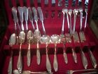 Large Wm Rogers silver plated flatware fine dining set & wood chest,105 pieces!