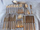 ANTIQUE 1920  LA TOURAINE ROGERS INTERNATIONAL SILVER PLATE CUTLERY SET 43 PC