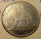 1910 FRENCH INDOCHINA ONE PIASTRE RARE COIN