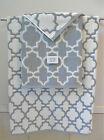 Cynthia Rowley 3 Piece Bath Towel Set~White & Gray~Quatrefoil/Lattice~New
