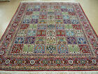9x13 Persian Qum Garden Design Traditional Hand Knotted Wool Oriental Rug Carpet