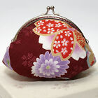 Hand crafted floral coin purse/clutch with kiss lock frame makeup jewelry