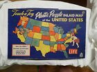 Vintage Hasbro 1950 Map United States Teach a Toy puzzle game no.1975