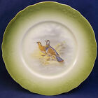 Antique Huntington China Game Cabinet Plate Fowl Wild Bird Vintage Porcelain