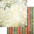 Reminisce MAGICAL STRIPE scrapbooking Dbl Sided 2PCS paper GIFT RIBBON BOW