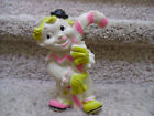 Vintage 1965 Rubber Clown Squeak Toy.  Works, nice condition for age