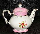 Vintage Gibson Pink & White Rose Tea Pot Holds 8 cups Tea Party Time