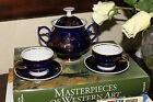 Rare! Russian Cobalt Gold Sugar Bowl and 2 Expresso cup Porcelain