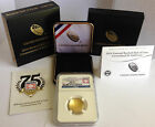 2014 W $5 Gold Baseball Hall of Fame Uncirculated Early Releases NGC MS 70