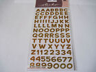 Scrapbooking Stickers Sticko Funhouse Yellow Metallic Alphabet Numbers Alphabets