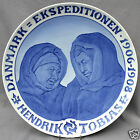 ROYAL COPENHAGEN 1910 plate for 1906-08 Greenland Expedition - Only 5 made!