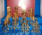 Danbury Mint Gold Christmas Ornament Collection - 1981 - 12 Pieces