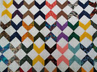 Unfinished Quilt top - Chevron Block, assorted colors approx. 79