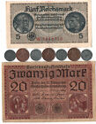 Rare Very Old Antique WWI WWII Nazi War Coin Stamp Note Vintage Collection Lot