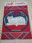 Cut Out Cat Stuff Sew Throw Pillow Vintage Country Fab Country Folk Art