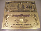 $100 $500   $ 10,000  GOLD 24K US BANKNOTE  COMPLETE  YOUR   COLLECTION