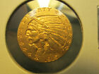 1915 2.5 DOLLAR INDIAN GOLD COIN IN ABOUT UNCIRCULATED CONDITION