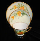 ANTIQUE Hand Painted by JORGENSEN Porcelain CHINA Tea Cup & Saucer TRIO Set