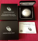 2014 P National Baseball Hall of Fame Silver Proof Coin 1 US Mint Box COA