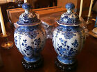 Porceleyne Fles Royal Delft Blue Ginger Jars (2) hand-painted with domed cover