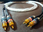 One 15Meter Copper Silver Plated RCA Interconnect Cable Gold Plated Monster RCA