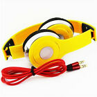 Yellow Adjustable Over-Ear Earphone Headset 3.5mm For iPod iPhone MP3/P4 5S 4S