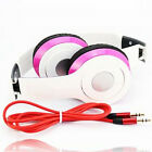 White+Pink Fashion Over-Ear Earphone Headset 3.5mm For iPod iPhone MP3 MP4 4S 5S