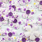 10pcs Beautiful Padded Felt Flower Rhinestone Appliques Cloth Applique
