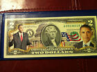 BARACK OBAMA * The 44th President*  U.S. $2 Bill Official Legal Tender Colorized
