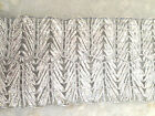METALLIC SILVER BRAIDED RIBBON TRIM SARI BORDER SEWING LACE TAPE 1 YARD TR236