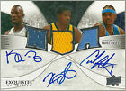 07-08 Kevin Durant Carmelo Anthony Kevin Garnett Exquisite RC Patch Auto 3 3